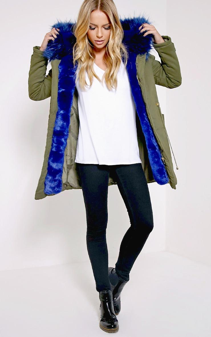 Jen Blue Fur Lined Premium Parka Coat 4