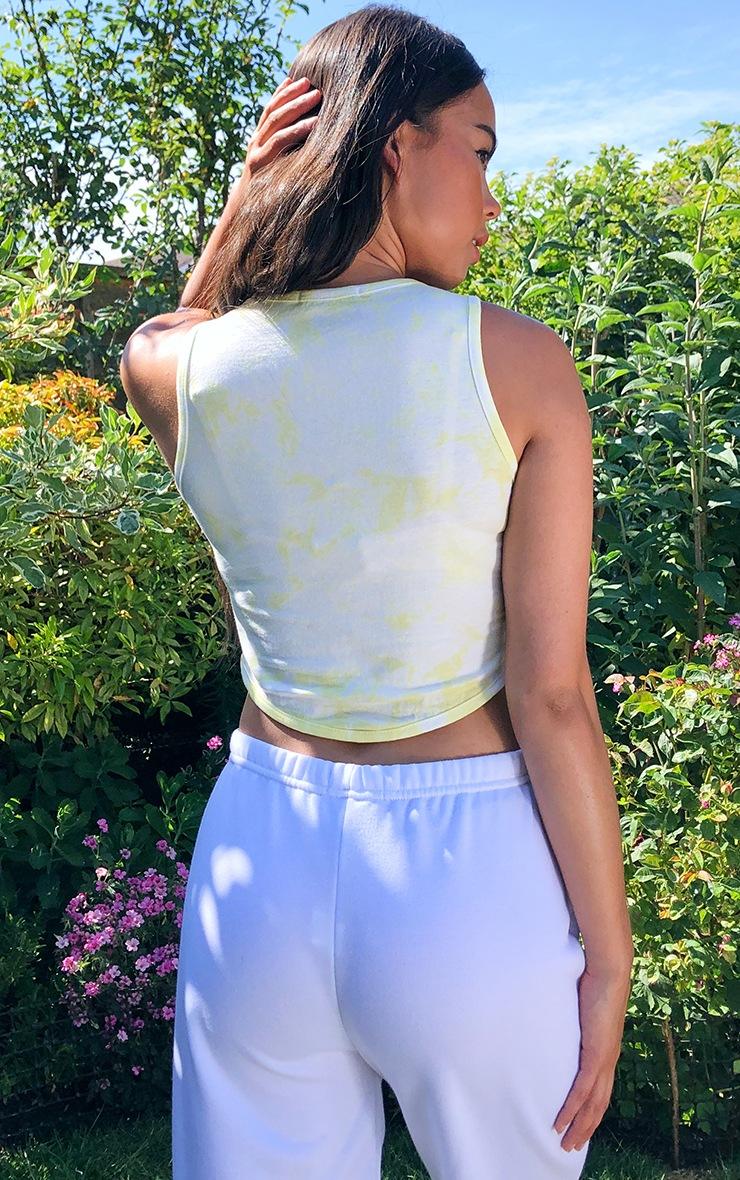 Lemon Malibu Diamante Tie Dye Crop Top 2
