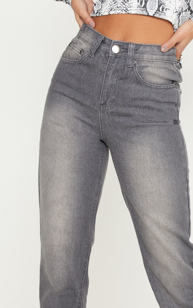Petite Charcoal Mom Jeans 5