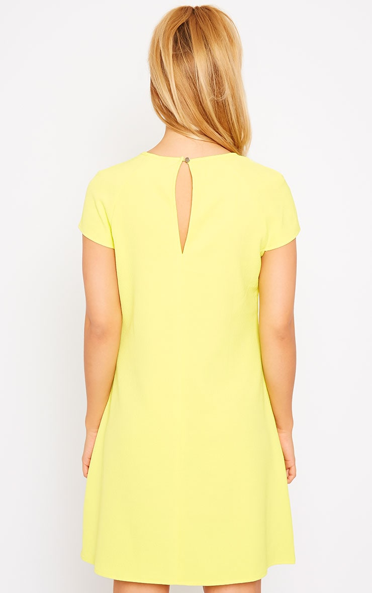 Sabra Yellow Waffle Loose Fit Shift Dress 2