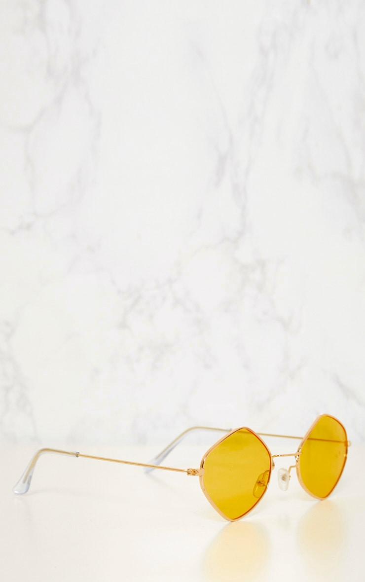 Yellow Diamond Shape Sunglasses 5