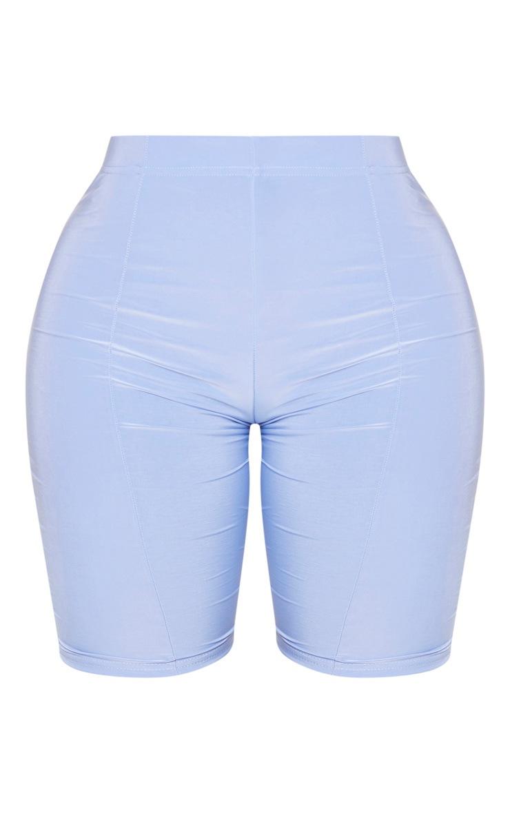Shape Dusty Blue Slinky Seam Detail Cycling Shorts 6