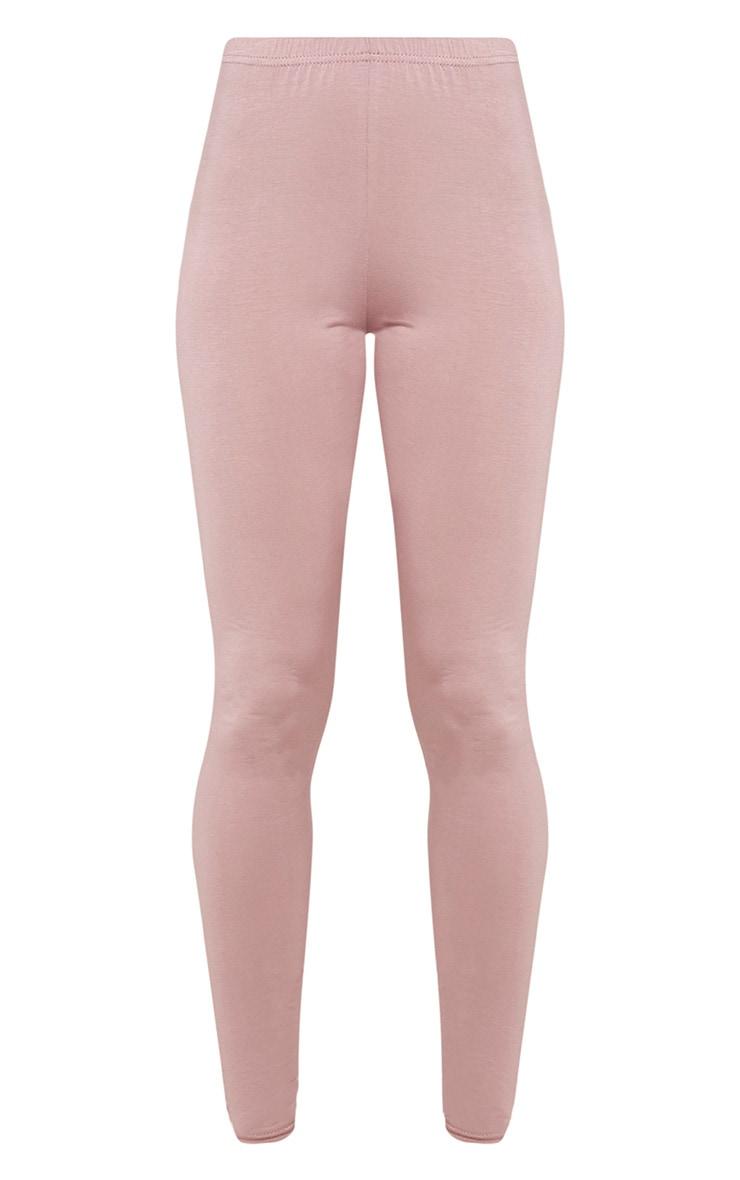Basic Mauve Jersey Leggings 3