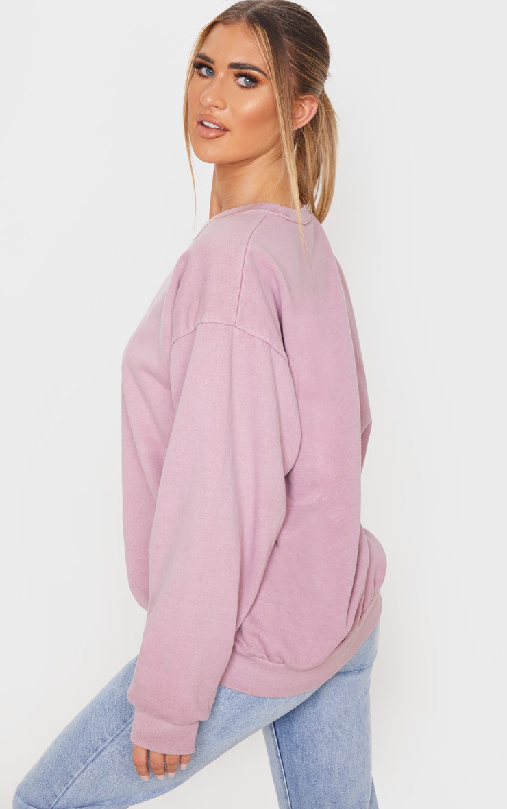 Rose Washed Oversized Sweater 2