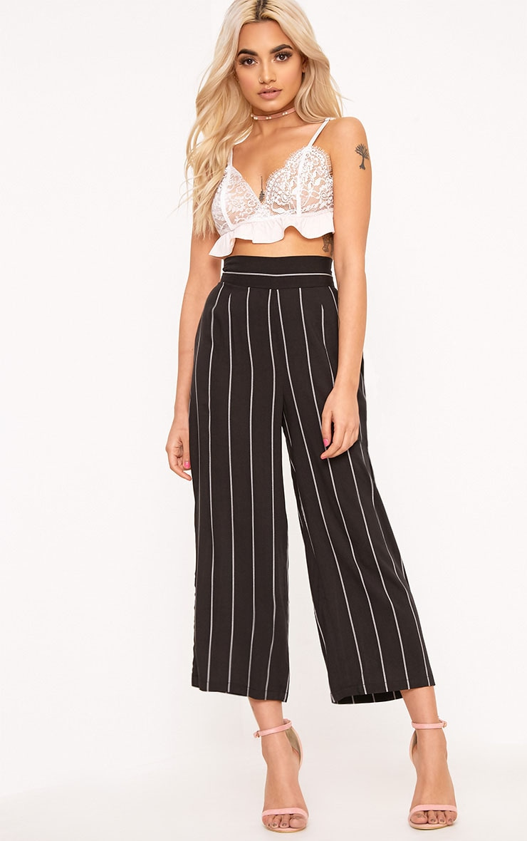 Tazmin Black Stripe Culottes 1
