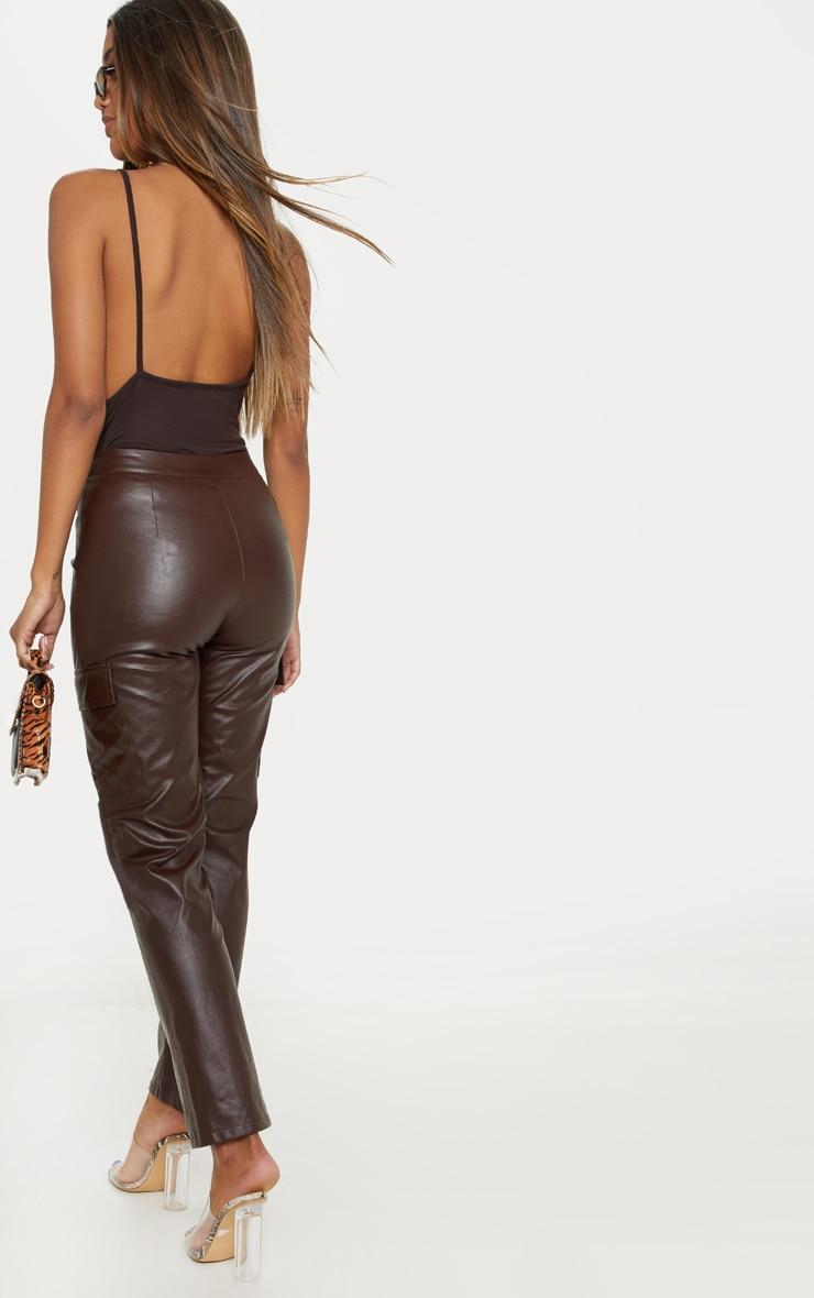 Chocolate Jersey Low Back Vest 4