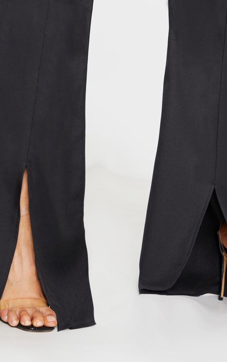 Tall - Pantalon taille haute noir à devant fendu 4
