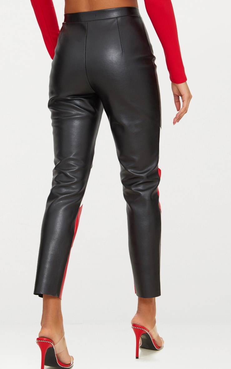 Black Biker Cigarette Trousers 4