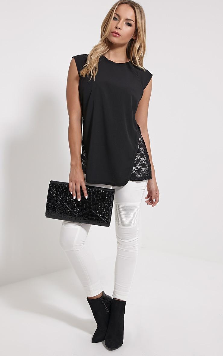 Zita Black Lace Top 3