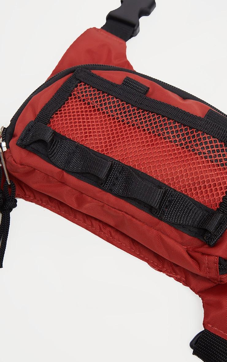 Burnt Orange Nylon Mini Utility Front Bag 3