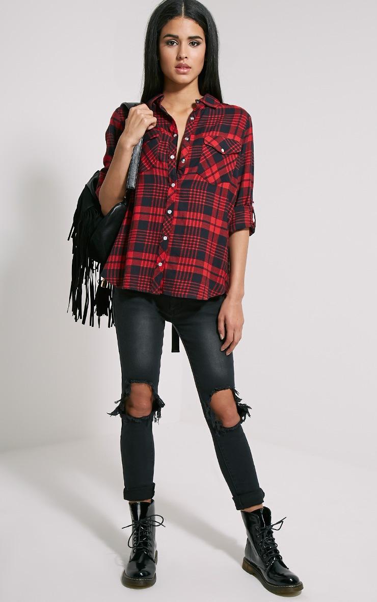 Toria Oversized Checked Shirt 3
