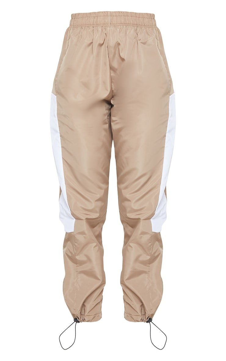 Stone Contrast Panel Shell Joggers 5