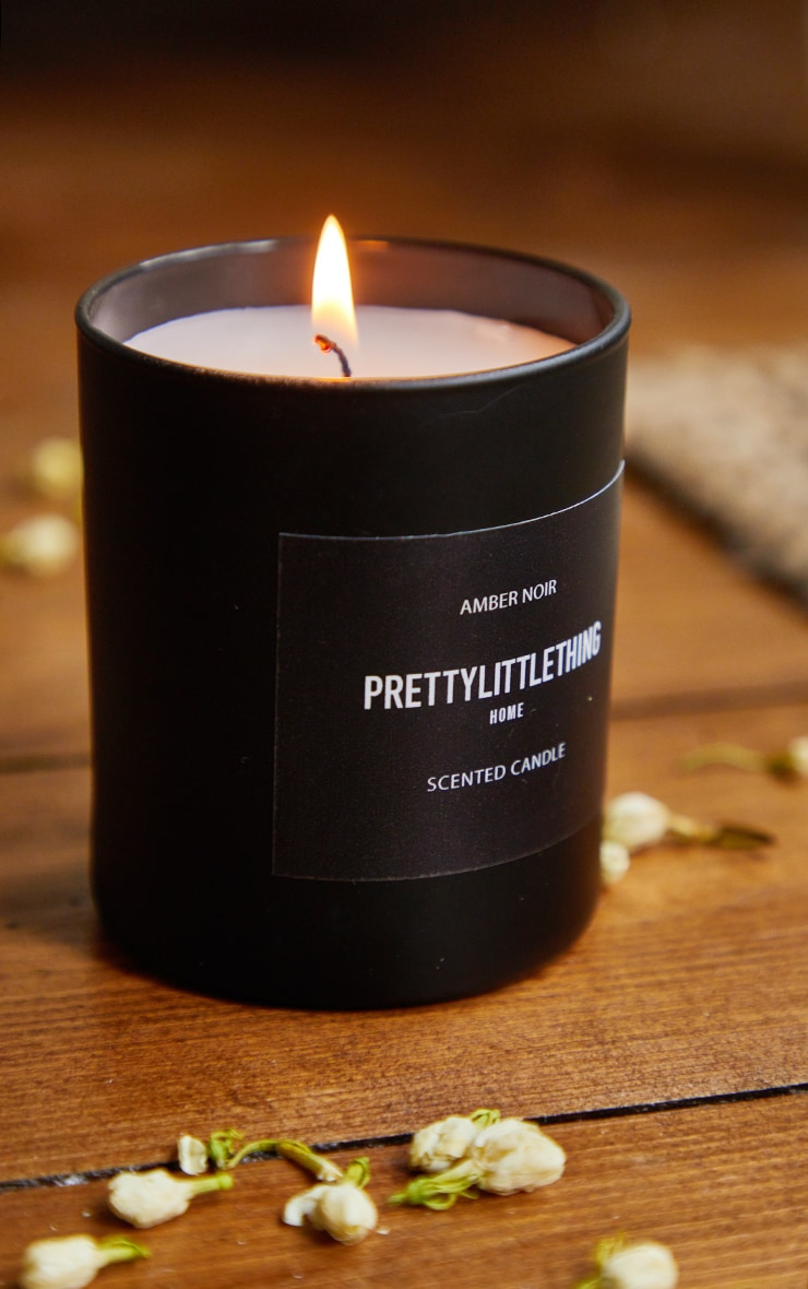 PRETTYLITTLETHING Amber Noir Scented Glass Candle 1