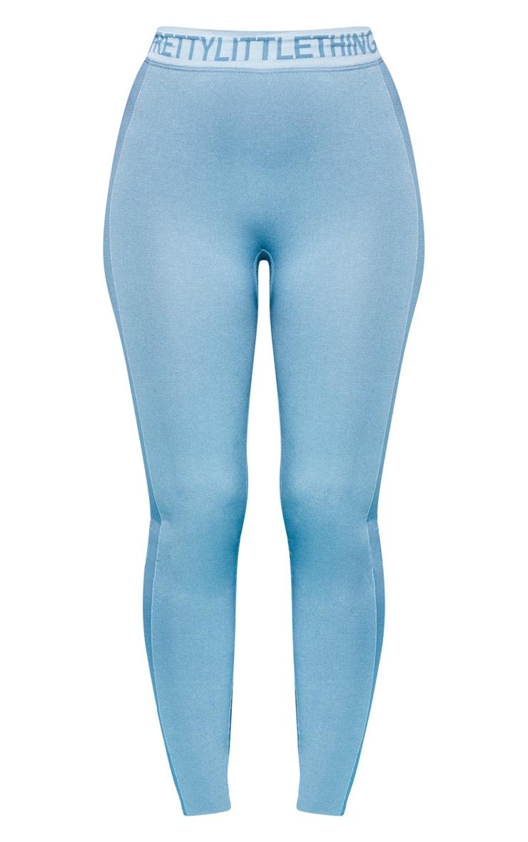 PRETTYLITTLETHING Ice Blue Seamless Gym Legging 3