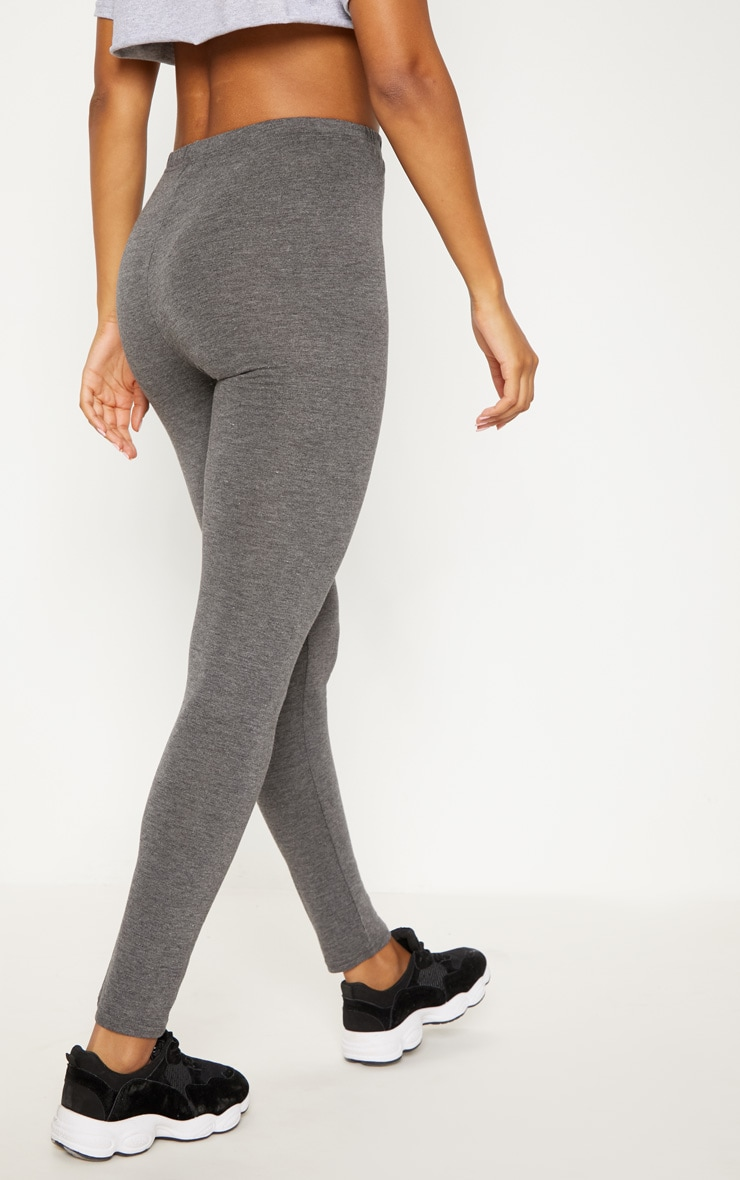 Charcoal Basic Jersey Legging   4