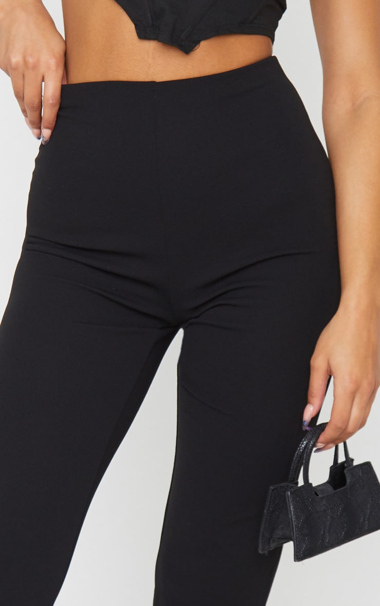Black Slim Leg Crepe Trousers 4