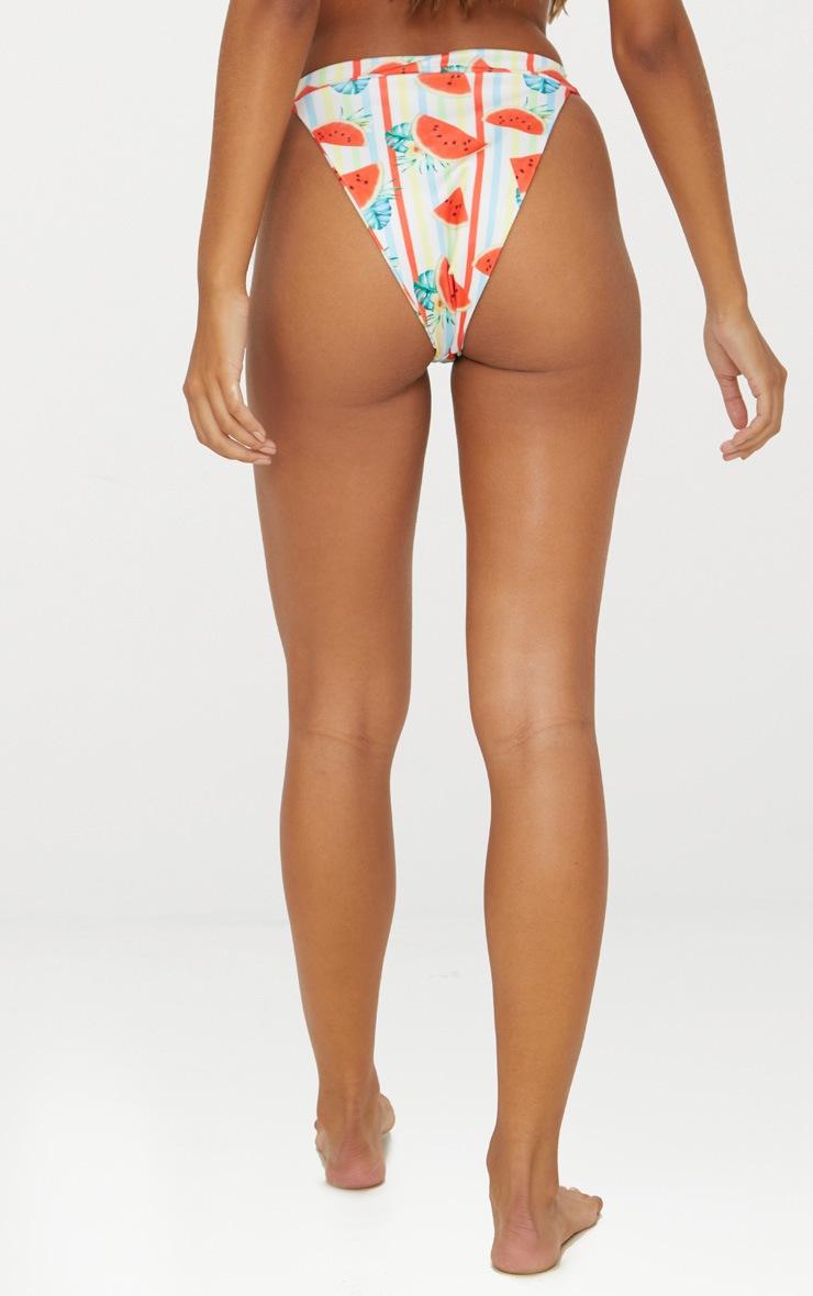 White Watermelon High Leg Bikini Bottom 4