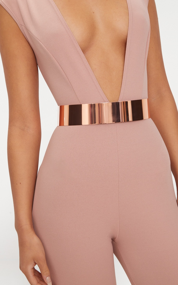 Rose Gold Metal Plated Belt 3