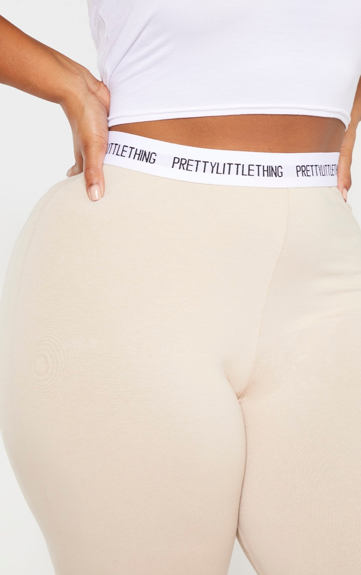 PLT Plus - Legging gris pierre PRETTYLITTLETHING 5
