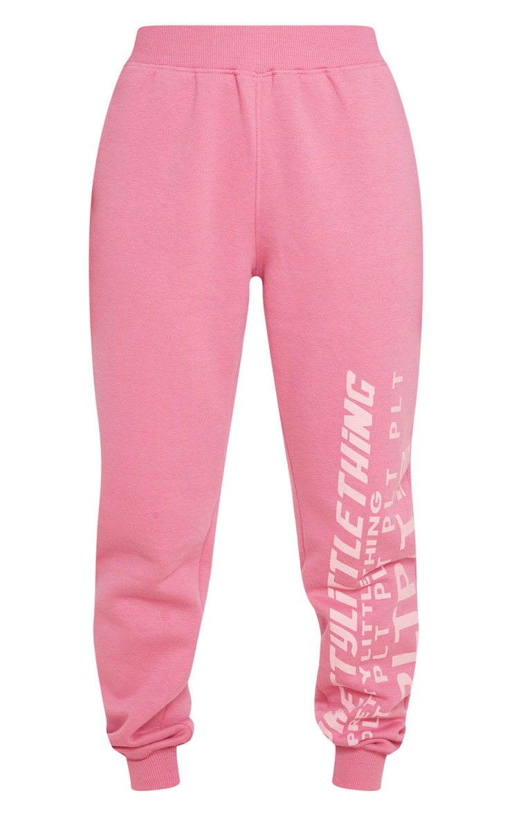 PRETTYLITTLETHING Pink Multi Logo Sweatpants 5