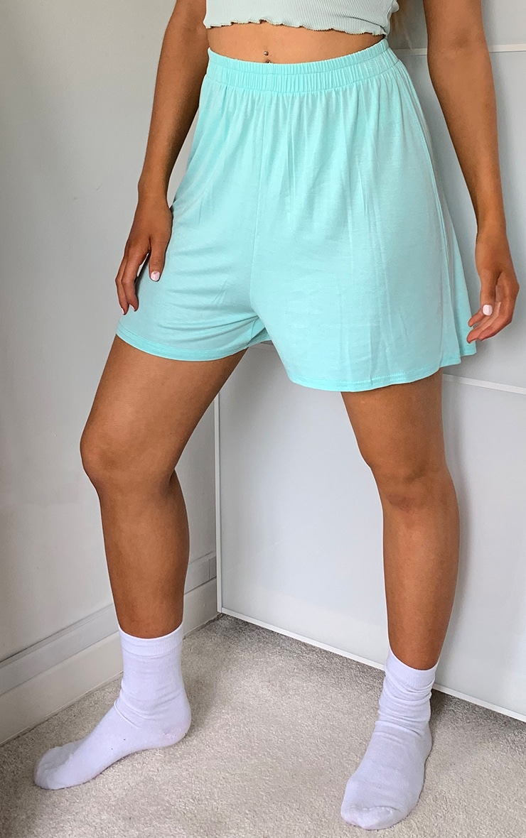 Mint Oversized Floaty Shorts 2