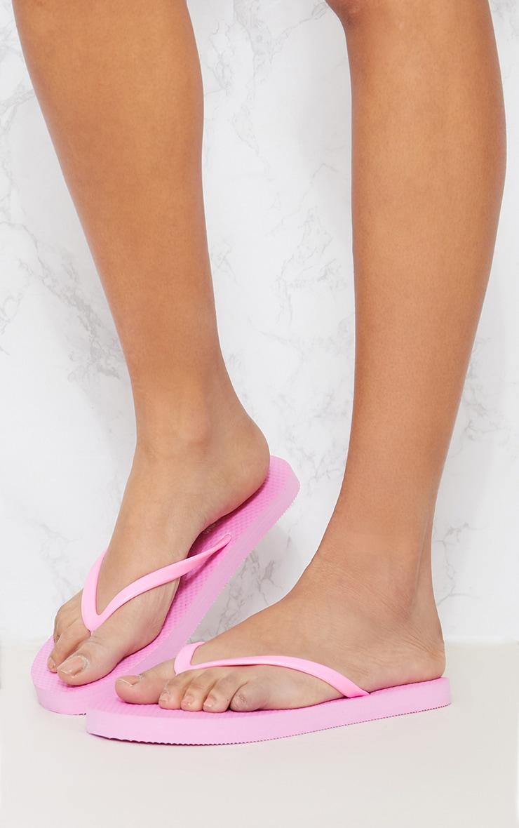White & Pink Flip Flop 2 Pack 7