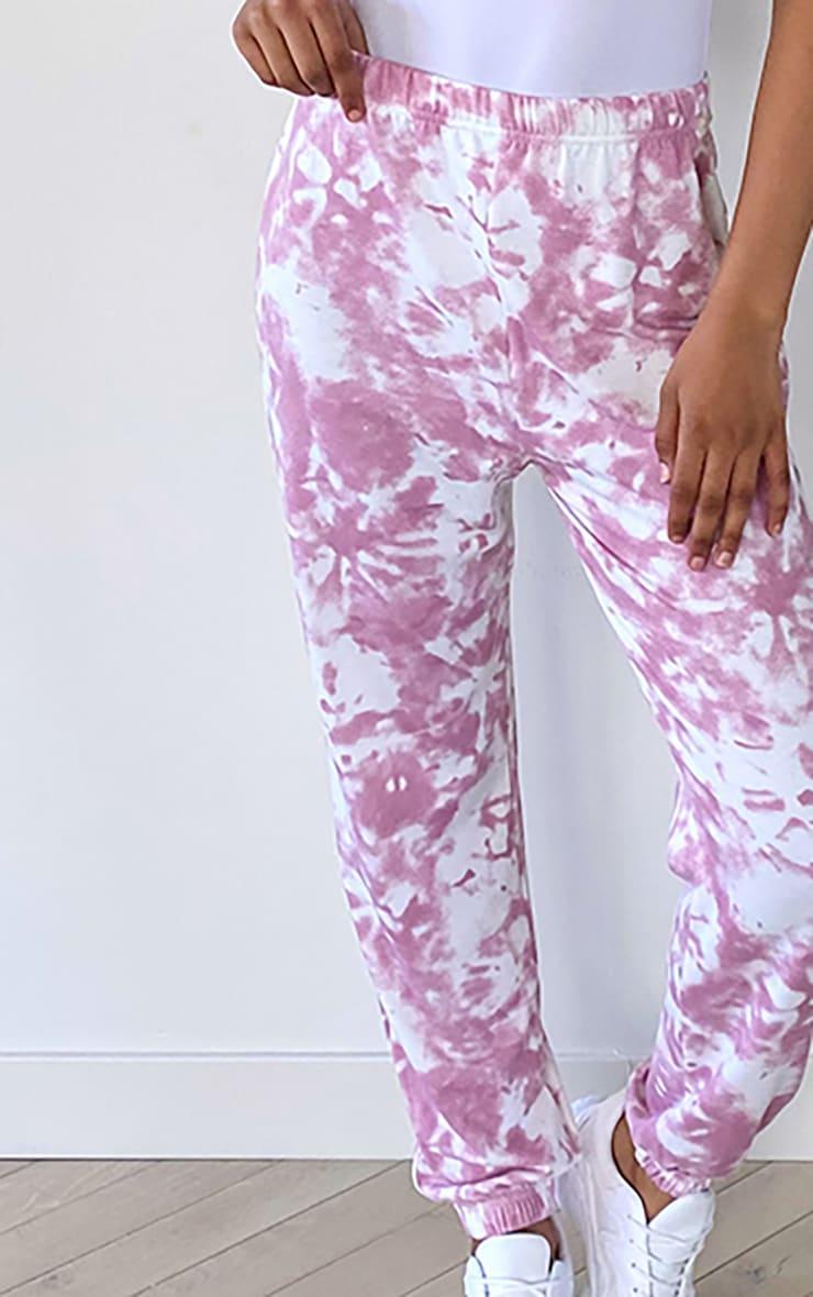 Tall Pink Tie Dye Cuffed Hem Joggers 4