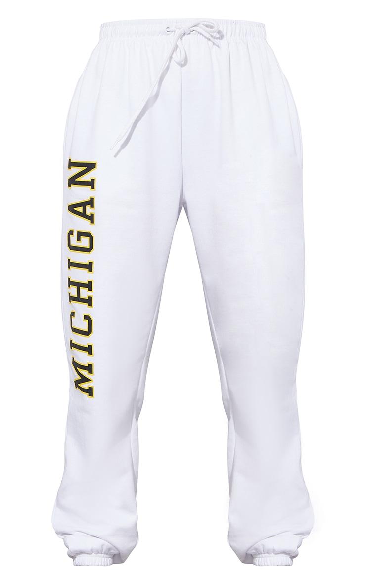 White Michigan Sweat Pant Joggers 5