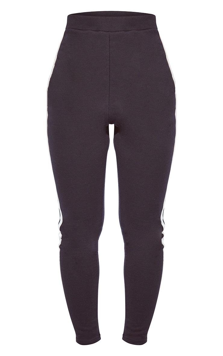 Black Double Side Stripe Skinny Joggers 5