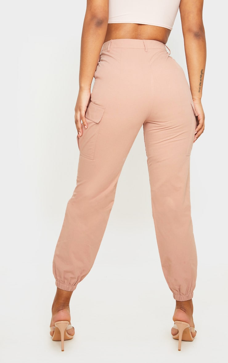 Pink Pocket Detail Cargo Pants 3