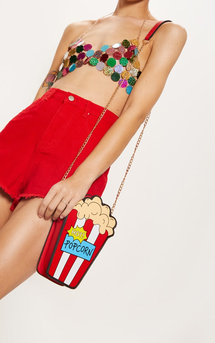 Multi Hot Popcorn Cross Body Bag 2
