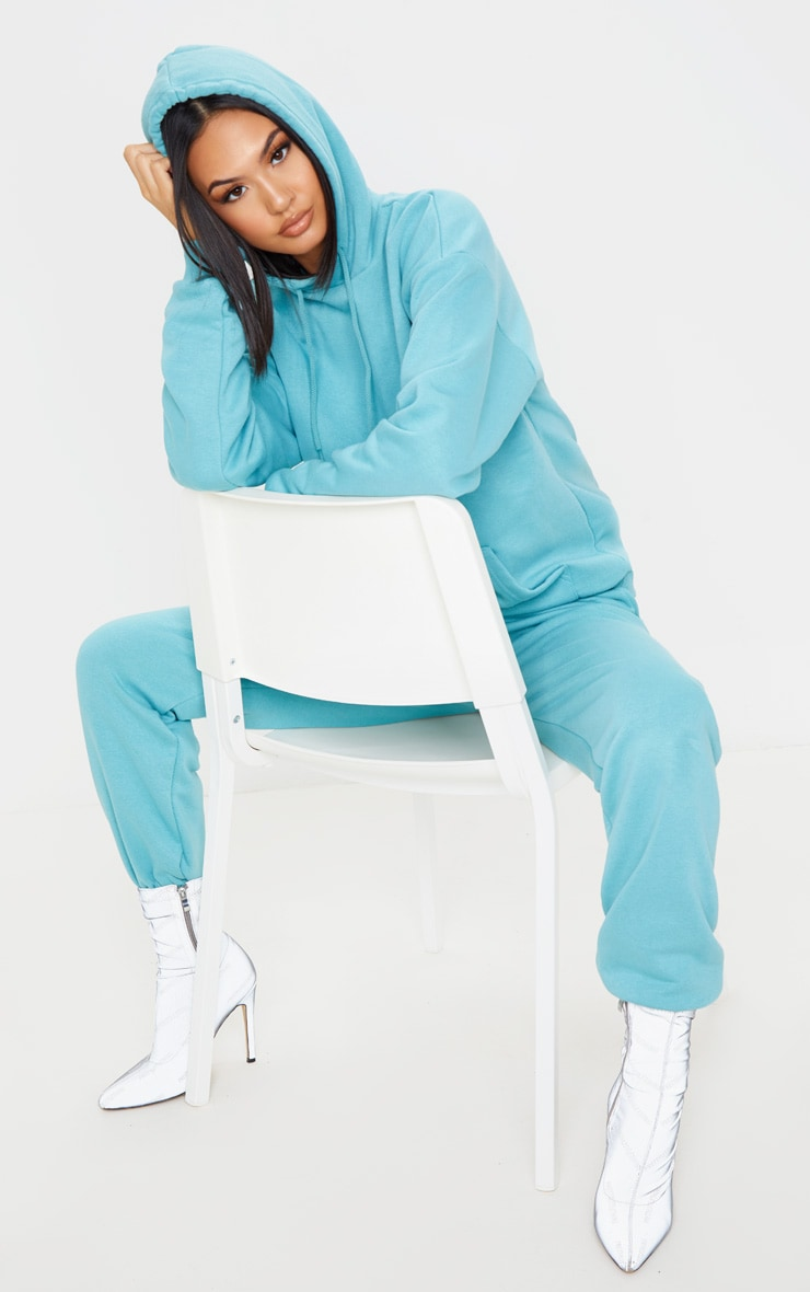 Dusty Turquoise Oversized Ultimate Hoodie 4