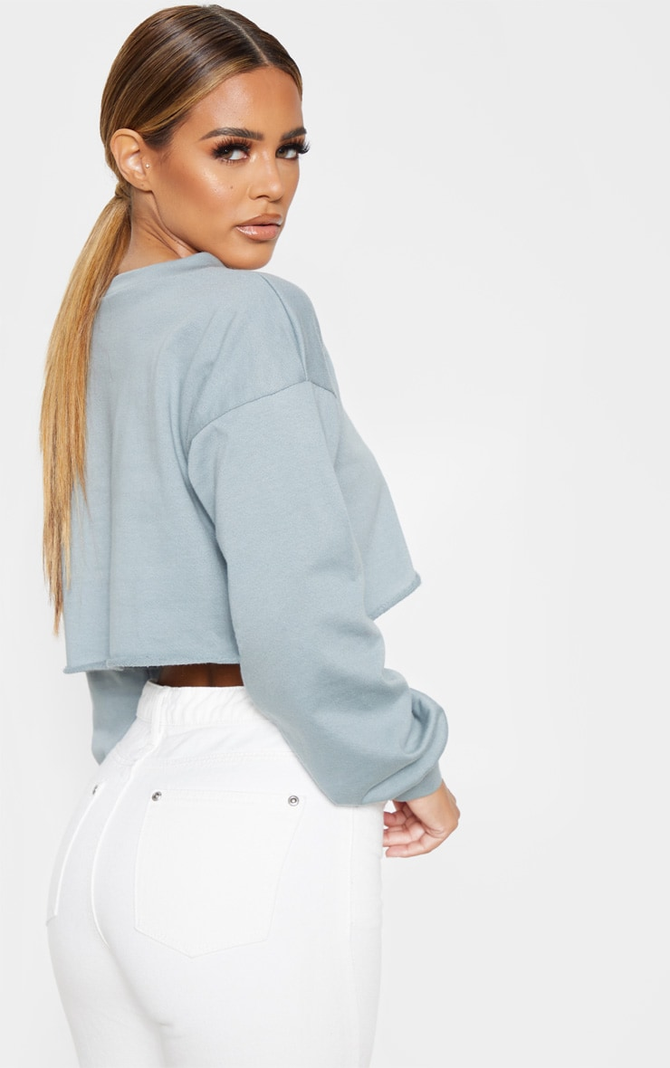 Petite Lead Grey Cropped Sweater 2