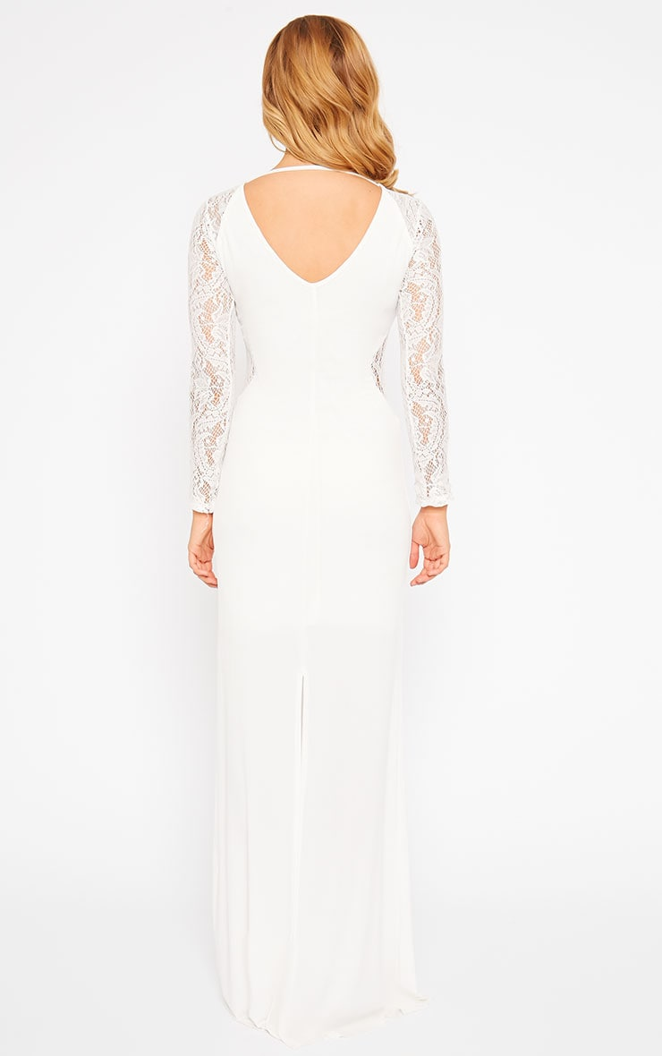 Debbie Cream Lace Insert Maxi Dress 2