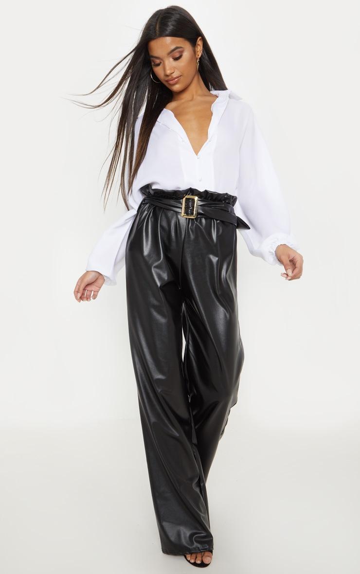 White Chiffon Button Up Oversized Shirt 4