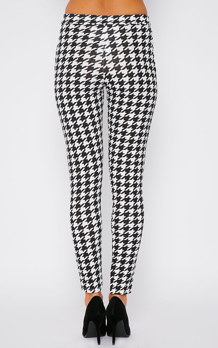 Kavita Monochrome Dogtooth Cigarette Trousers 2