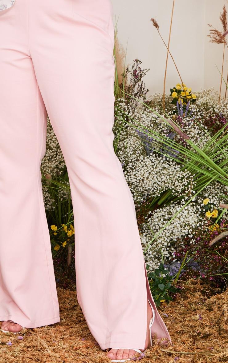 Plus Blush Split Detail Flared Pants 4