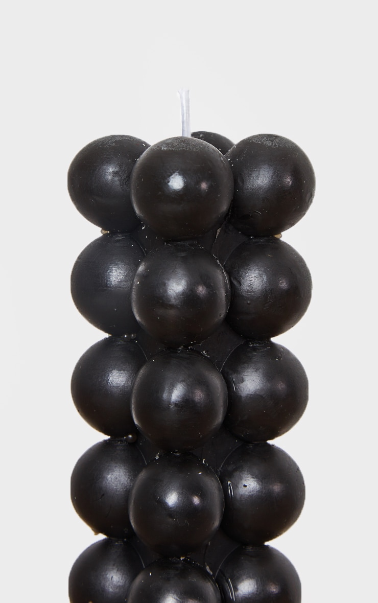 Black Bobble Pillar Cotton Scented Candle 4