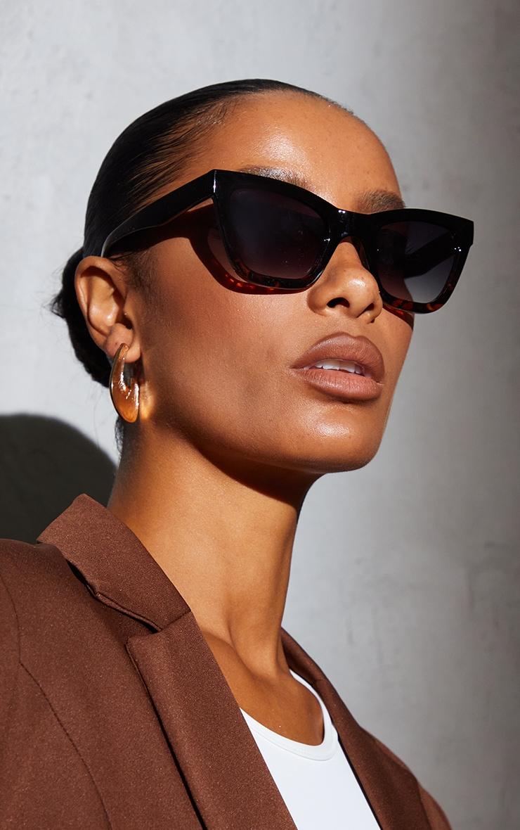 A.Kjaerbede Big Kanye Black Sunglasses 1