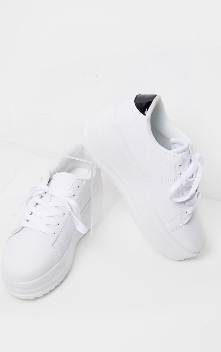 White Chunky Sole Flatform Sneaker 3