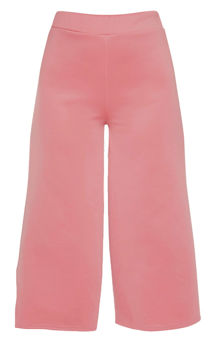 Rose Basic High Waisted Scuba Culottes 3