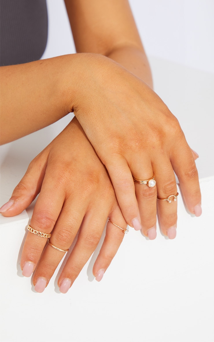 Gold Multi Assorted Ring Pack 1