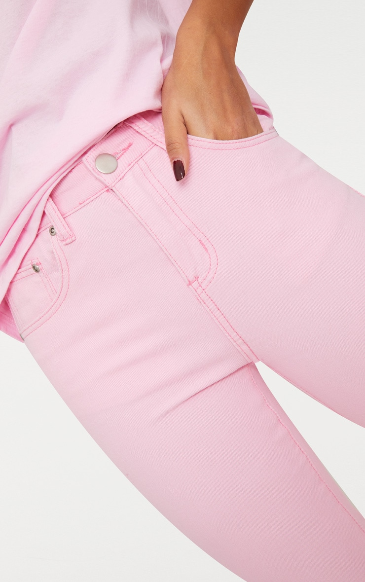 Pink Pastel Mom Jeans 5