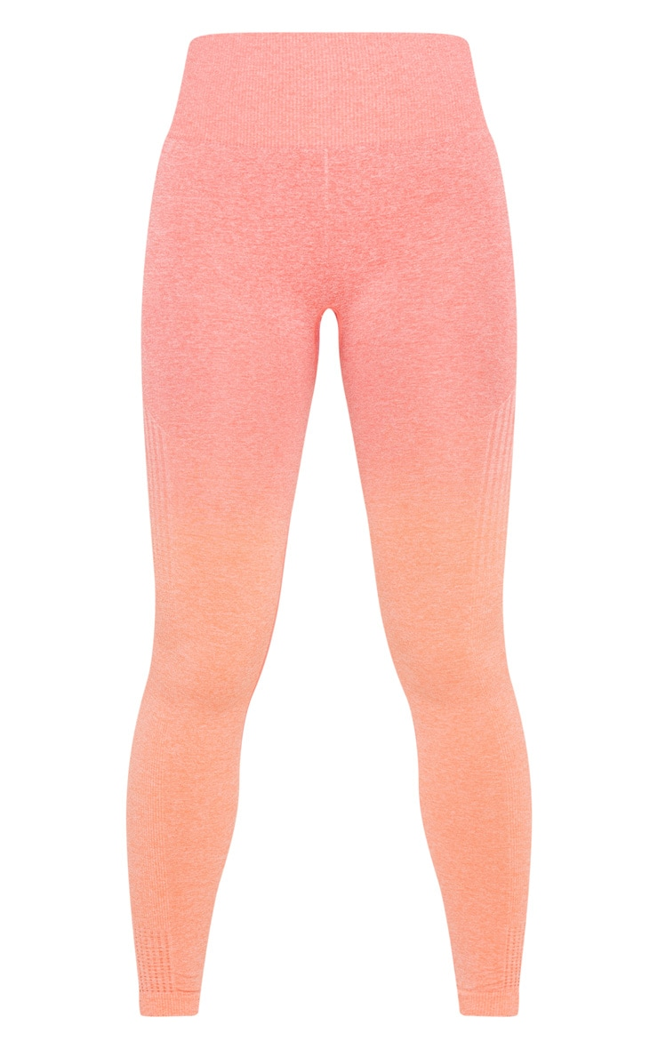 Coral Ombre High Waist Sports Seamless Legging 3