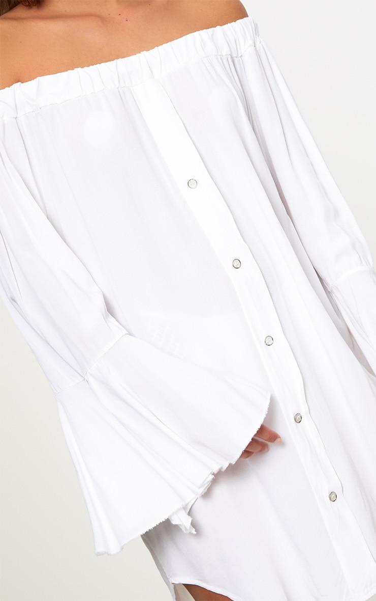 White Bardot Beachwear Shirt 4