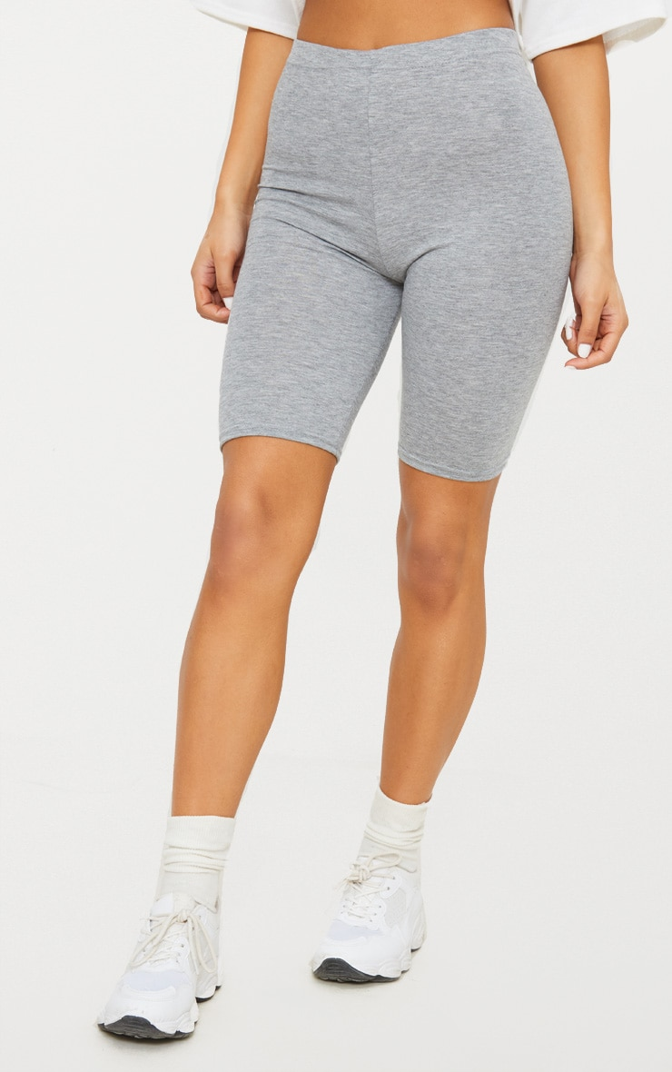 Grey Marl Basic Cycle Shorts 2