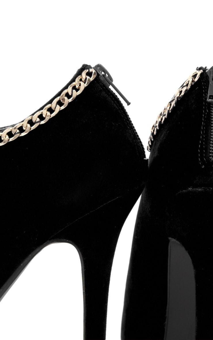 Addison Black Peep Toe Boots 4