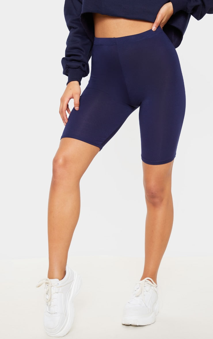 Navy Basic Bike Shorts 2