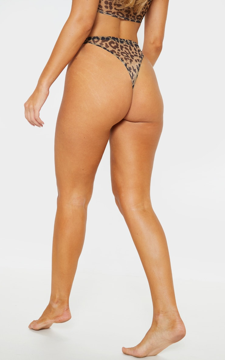 Brown Animal High Leg Panties 4