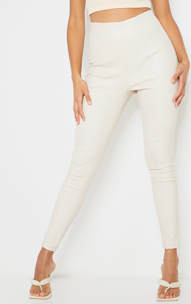 Stone Faux Leather Stretch Leggings 2